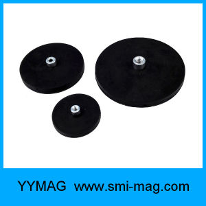 Strong Force Holding Rubber Mount Cup Magnet for Delicate Surface pictures & photos