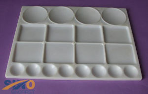High Quality White Plastic Palette, Painting Palette pictures & photos