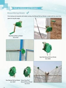 Roof Manual Roll up Unit for Greenhouse Light Deprivation pictures & photos