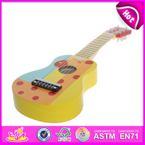 New Product Hot Musical Instrument Guitar Toy for Kids with CE Test, Colorful Wooden Toy Guitar Toy for Children W07h032 pictures & photos