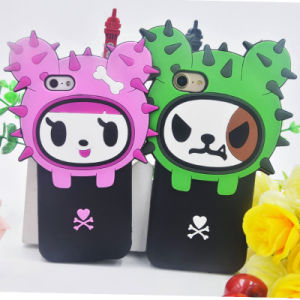 Cute 3D Cartoon Soft Silicone Case for iPhone 6 6plus 7 7plus 5s Se (XSR-046) pictures & photos
