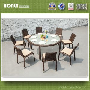 Restaurant Rattan Dining Set Hotel Wicker Dining Table and Chair
