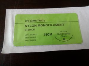 Nylon Surgical Suture Synthetic Non Absorbable Suture USP2/0 pictures & photos