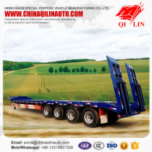 4 Axles 80 Tons Low Bed Semi Trailer pictures & photos