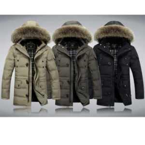 Men Winter Coat Black Thick Down Jacket Windproof Outer Wear pictures & photos