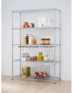 "Commercial 82""X48""X18"" 5 Tier Layer Shelf Adjustable Wire Metal Shelving Rack pictures & photos"