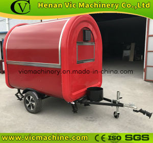 Europe popular full red food trailer with CE certification pictures & photos