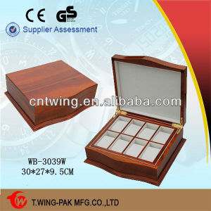 Luxury Glossy Lacqure Wooden Watch Packaging Box
