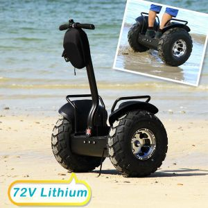 New Energy Electric Car Brush Motor 2 Wheel Stand up All Terrain Electric Scooters 2000W with 72V Lithium Batteries pictures & photos