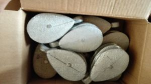 Casting Steel Single Pulley with Zinc Plated or Painted pictures & photos