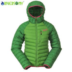 Green Utdoor Down Jacket for Women pictures & photos