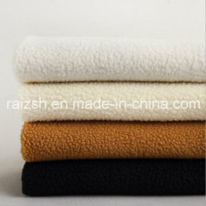 Lamb Plush Fabrics Dyed Polyester Clothing Shoes Lining Fabric pictures & photos
