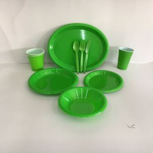 Party Supplies Disposable Plasitc Colorful Dinner Set