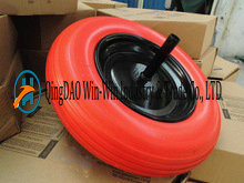 3.50-8 PU Wheelbarrow Wheels Trolley Wheels with Solid Axle 20X240mm pictures & photos
