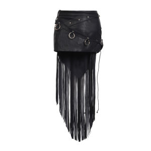 Punk Rave Wholesale Goth Rock Black Leather Skirt (Q-249) pictures & photos