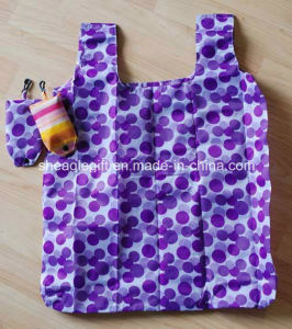 Full Color Gas Sublimation Printing Polyester Foldable Shopping Bag with Snap Pouch pictures & photos