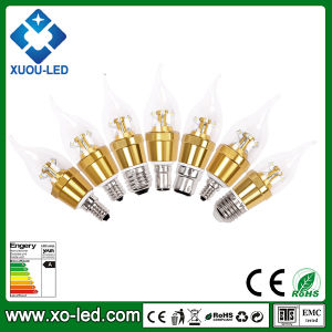 320lm 4W Candle LED 8PC Samsung SMD2323 E12 E14 E17 E26 E27 B22 B15 Base Glass Candle Bulb CE RoHS PSE Approved 3years Warranty LED Bulb Lamp