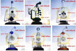 Glass Smoking Water Pipe with Honeycomb Recycler Shower pictures & photos