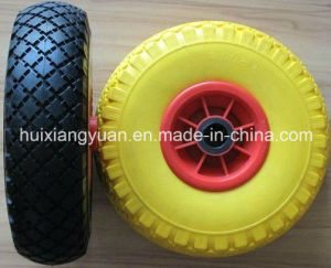 4.00-8 European Standard Solid Flat Free PU Foam Wheels