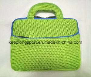 Fashionable Neoprene and Mesh Laptop Bag with Handle
