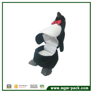 Animal Shape Penguin Flocked Jewelry Gift Box pictures & photos