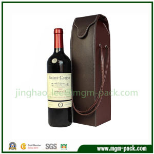 Fast Selling Leather Wrapping Wooden Wine Gift Boxes pictures & photos