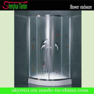 Low Tray Quadrant Glass Double Sliding Shower Enclosure (TL-535) pictures & photos