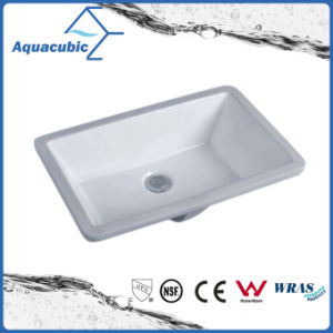 Bathroom Undermount Square Lavatory Ceramic Basin (AB016) pictures & photos