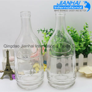 China Supplier Wholesale Custom Design Clear Glass Wine Bottle pictures & photos