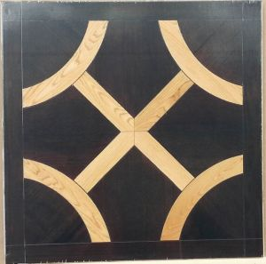 Walnut Oak Art French Mosaic Wood Parquetry Flooring Design
