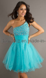 One Shoulder Young Girl Prom Party Cocktail Dress