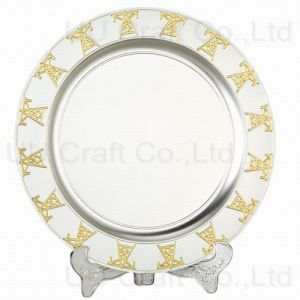Gold-Silver Colored Plate for Decoration (10-8064-23)