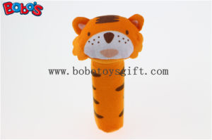 Baby Cute Tiger Animal Stick Rattle Toys Handbell Plush Toy Doll Bosw1035 pictures & photos