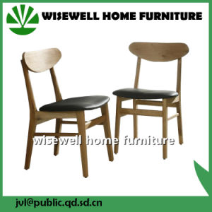 Solid Ash Wood Dining Chair with PU Seat (W-DC-02) pictures & photos