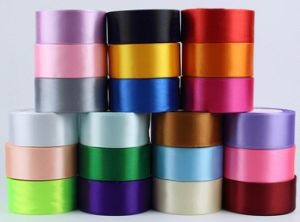 196 Stock Colors 18 Sizes Double Sided Satin Ribbon pictures & photos