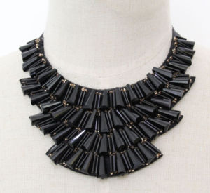 Lady High Quality Fashion Crystal Costume Jewelry Chunky Necklace (JE0160-black) pictures & photos