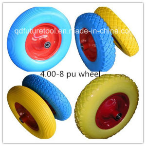 400-8 PU Foam Wheel for Trailer/Wheelbarrow/Beach Cart/Tool Cart pictures & photos