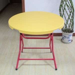 Yellow Round Dining Plastic Table (SY-80Y) pictures & photos
