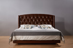 High Quality Classic Leather Bed for Bedroom Furniture (B001) pictures & photos