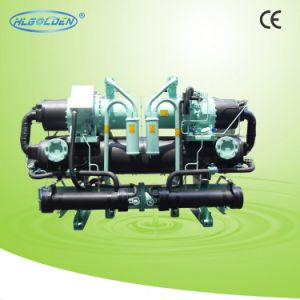 R407c Double Compressors Screw Type Industrial Water Chiller pictures & photos