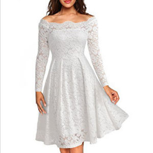 Factory High Quality Sexy Tube Lace A-Line Long Sleeves Women′s Dress pictures & photos