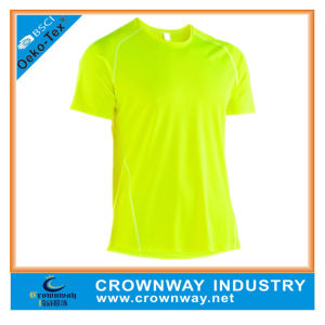 Cheap 100% Polyester Dry Fit Running Shirts for Race pictures & photos