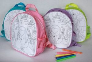 Children Draw Paintings School Bag (KM7655) pictures & photos