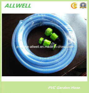 Plastic PVC Flexible Fiber Reinforced Braided Water Garden Spray Pipe Hose 25mm pictures & photos