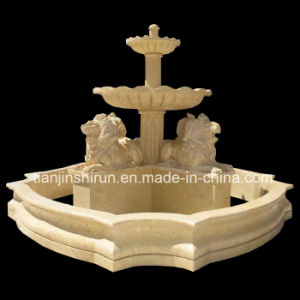 Lion Carving Stone Garden Fountain, Water Fountain pictures & photos