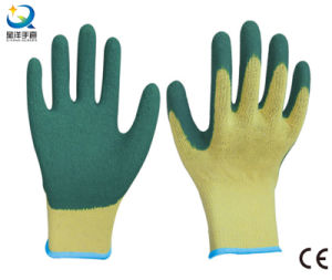 10g Cotton Shell Latex Palm Coated Work Gloves pictures & photos