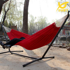 Single Person Pure Red Canvas Hammock pictures & photos