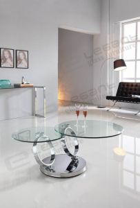 Round Glass Table, Stainless Steel Coffee Table Ca212c pictures & photos