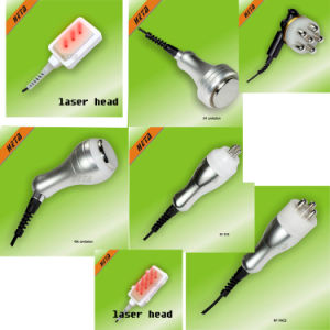 Portable 8 Inch Touch Screen 6 650nm Laser Slim Handle 5 Cavitation RF Anti Wrinkle Skin Care H-1003b pictures & photos
