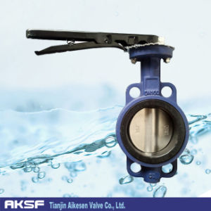 GGG25, GGG40, Cast Iron Wafer Butterfly Valve (D71X-10/16) pictures & photos